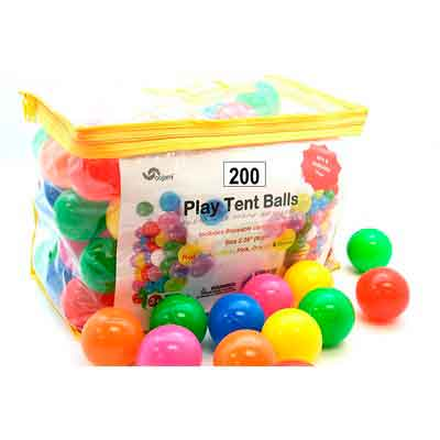 Pack of 200 Phthalate Free BPA Free Crush Proof Plastic Ball