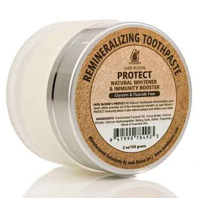 Jade Bloom All Natural REMINERALIZING TOOTHPASTE PROTECT - Natural Whitener & Immunity Booster