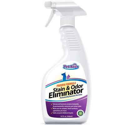 No Marking Enzyme Cleaner Housebreaking Spray Pet Odor Eliminator Stain Remover - Stop Cats From Peeing and Dog Re-marking - Keep Pets