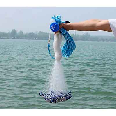 American Saltwater Fishing Cast Net for Bait Trap Fish