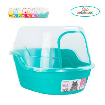 Litter Box with Lid - Jumbo Hooded Kitty Litter Pan - Holds Up to Two Small Cats Simultaneously