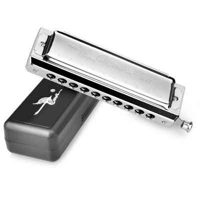 SWAN Harmonica in C Key 10 Holes 40 Tone Mouth Organ Stainless Steel Chromatics Harmonica SW1040