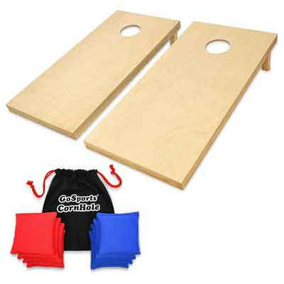 GoSports Solid Wood Premium Cornhole Set
