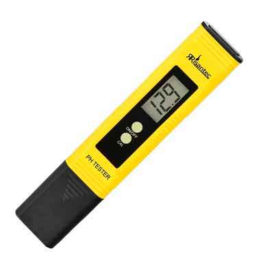 Risantec Digital PH Meter Tester Best For Water Aquarium Pool Hot Tub Hydroponics Wine - Push Button Calibration Resolution .01 / High Accuracy +/- .05 - Large LCD Display - Satisfaction Guaranteed
