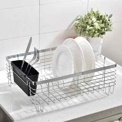 Wtape Best Commercial Steel Rust Proof Kitchen In Sink Side Draining Dish Drying Rack