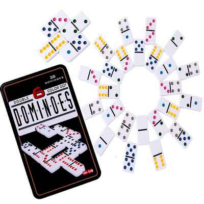Color Dominoes Game Set