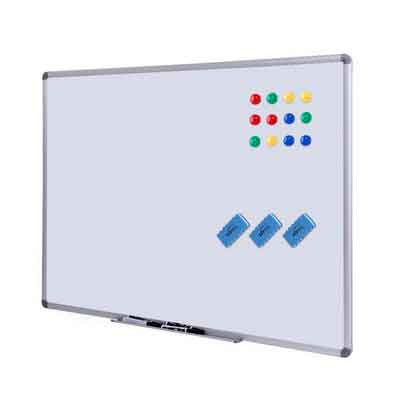 Dry Erase Board - White Board 48 x 36 Magnetic Dry Erase Board with Aluminum Frame