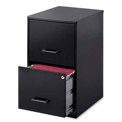 Lorell 14341 18 Deep 2-Drawer File Cabinet