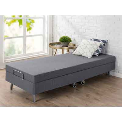 Zinus Memory Foam Resort Folding Guest Bed with Wheels