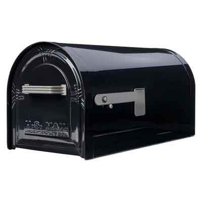 Gibraltar Mailboxes Wyngate Large Capacity Galvanized Steel Black