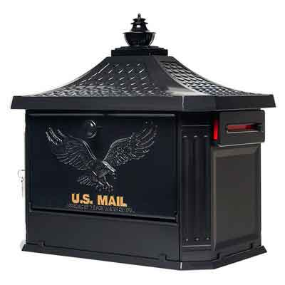 Gibraltar Mailboxes Hamilton Large Capacity Cast Aluminum Black