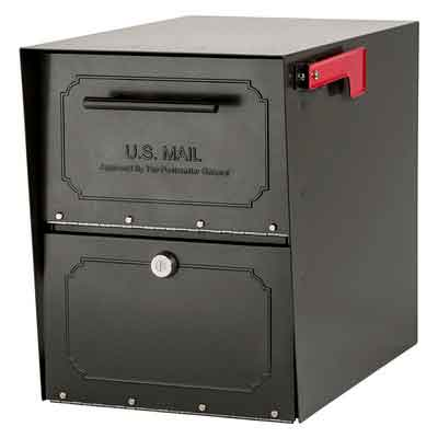 Architectural Mailboxes 6200Z-10 Oasis Classic Locking Post Mount Mailbox