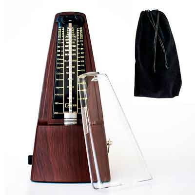 CANTUS Mechanical Metronome Wood Grained Loud Sound / High Precision / No batteries Needed / for Piano / Guitar / Violin / Drum and Other Instruments