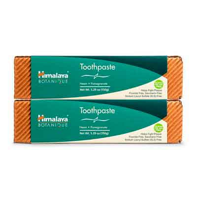 Himalaya Neem and Pomegranate Fluoride- Free Natural Toothpaste