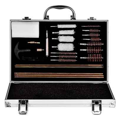 CVLIFE 28pcs Universal Gun Rifle and Shot Gun Cleaning Kit with Aluminum Carrying Case