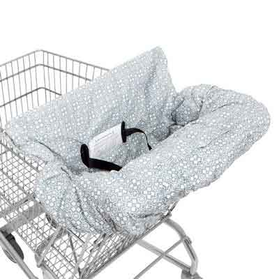 WATERPROOF 2-in-1 Baby Shopping Cart Cover & High Chair Covers with Safety Harness for Babies &...