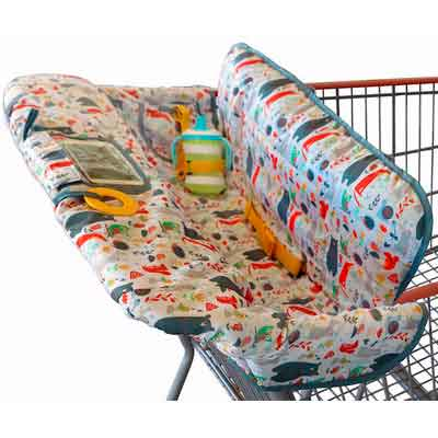 Shopping Cart Cover for Baby or Toddler | 2-in-1 High Chair Cover | Compact Universal Fit | Unisex for Boy or...