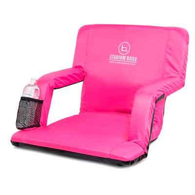 Stadium Boss Seat Reclining Bleacher Chair Folding with Back / Sport Chair Reclines Perfect For Bleachers Lawns and Backyards