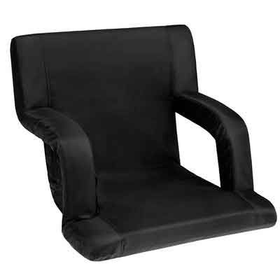 SONGMICS Portable Stadium Seat Chair with Padded Cushion Shoulder Straps 6 Reclining Positions for Bleachers or Benches UGSS32B