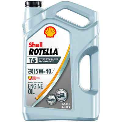 Shell ROTELLA T5 15W-40 Synthetic Blend Diesel Engine Oil