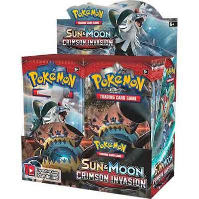 Pokemon Sun & Moon Crimson Invasion English Booster Box TCG Card Game