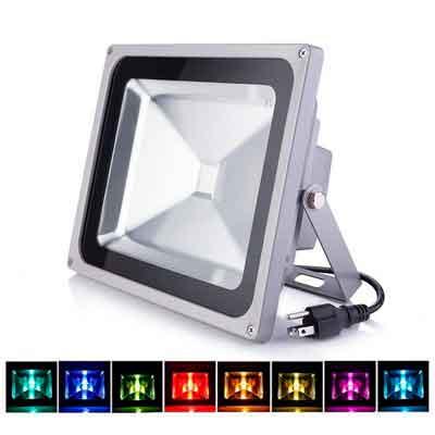 LOFTEK 50W Outdoor Security RGB LED Floodlight