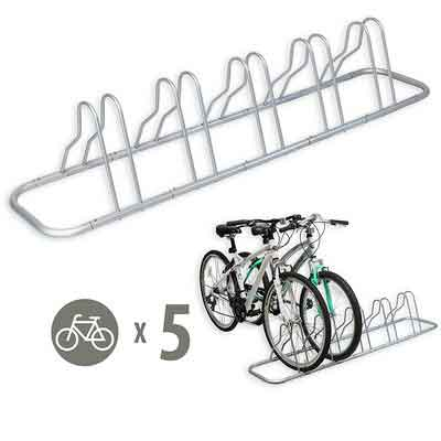 SimpleHouseware 5 Bike Bicycle Floor Parking Adjustable Storage Stand