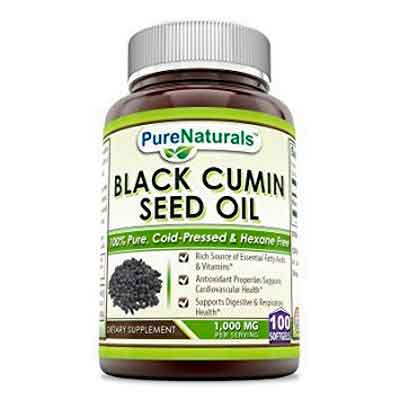Pure Naturals 100% Pure Black Cumin Seed Oil 1000 Mg 100 Softgels