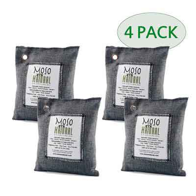 Moso Natural Air Purifying Bag. Odor Eliminator for Cars