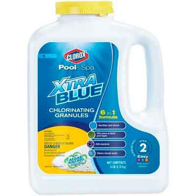 Clorox Pool&Spa 23006CLXCA Xtra Blue Chlorinating Granules 6-Pound