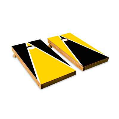 College Colors Cornhole Boards - Cornhole Crew - ACA Regulation Size Cornhole Board Set