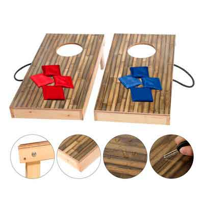 OOFIT Premium Solid Wood Cornhole Game Set with Stylish