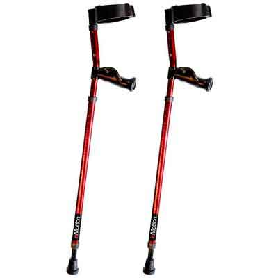 Millennial Medical Forearm In-Motion Crutches Ergonomic Handles - size Tall