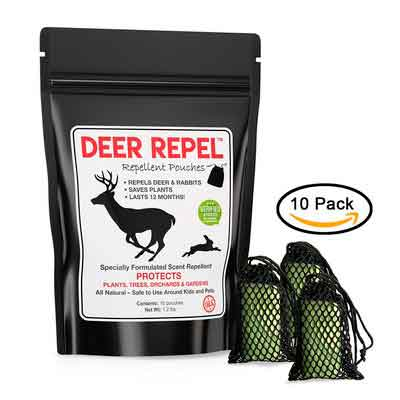 Deer Repellent for Plants - Deer Repel Pouches Stop Deer and Rabbits Eating Plants Trees Gardens & Orchards