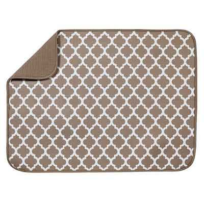 S&T Microfiber Dish Drying Mat - XL Taupe - 18