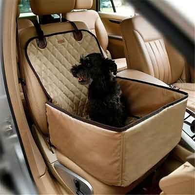 NACOCO 2 in 1 Pet Seat Cover Waterproof Dog Car Front Seat Crate Cover Protector Mat