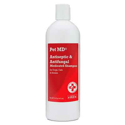 Pet MD - Antiseptic and Antifungal Medicated Shampoo for Dogs
