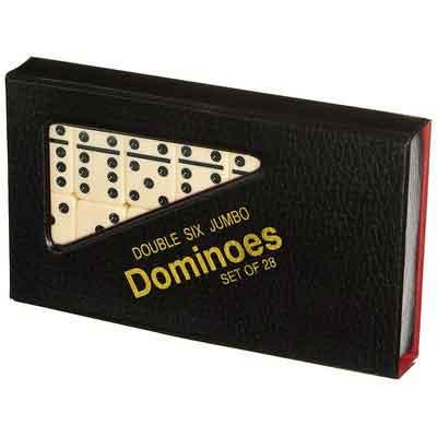 Double 6 Jumbo Dominoes - Ivory