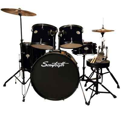 Rise by Sawtooth Full Size Student Drum Set with Hardware and Cymbals