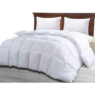 Queen Comforter Duvet Insert White - Quilted Comforter with Corner Tabs - Hypoallergenic