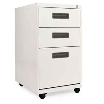 Alera Mobile Pedestal Filing Cabinet with Visible Casters-3 Drawers