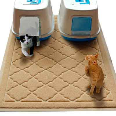 Non Toxic JUMBO Size Cat Litter Mat | 47 x 36 in | Scatter Control for Litter Box