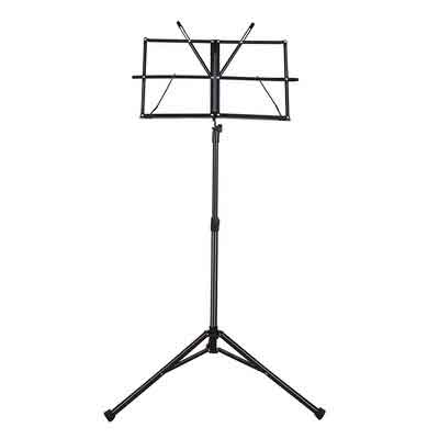 Mugig Music Stand Sheet Folding Music Holder for Instrument Books with Carry Bag