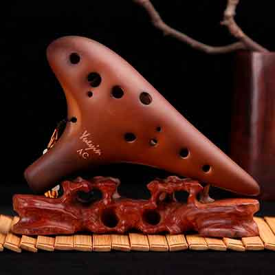 BaiLE Smoked Ocarina 12 Hole Legend of Zelda Alto C for Professional Performance and Beginner