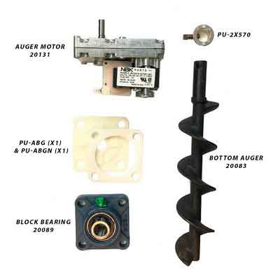 Englander Pellet Stove Bottom Auger Feed System Kit Including Auger Motor