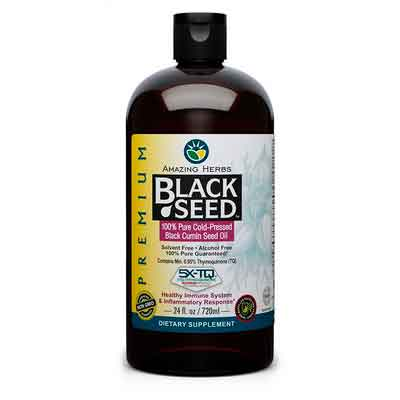 Amazing Herbs Black Seed Oil - 24 oz