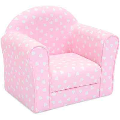 Best Choice Products Kids Heart Patterned Sofa Chair Couch w/ Armrests