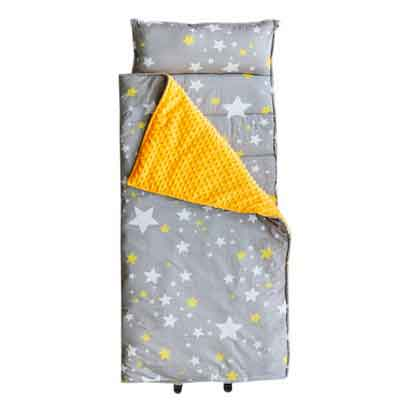 Hi Sprout Kids Toddler Lightweight and Soft Nap Mat- Minky Dot& Cotton-Stars
