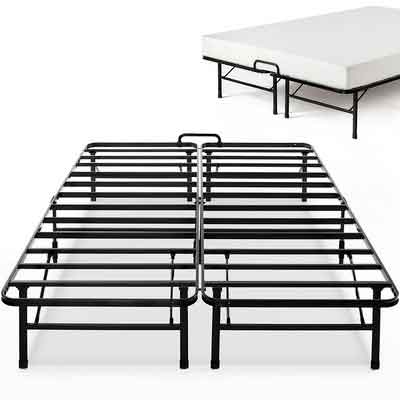 Zinus 14 Inch SmartBase Select with Mattress Stopper / Mattress Foundation / Platform Bed Frame / Box Spring Replacement