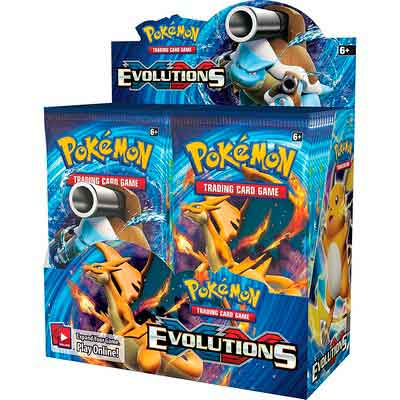 Pokemon TCG Card Game XY Evolutions Factory Sealed Booster Box - 36 packs of 10 cards each